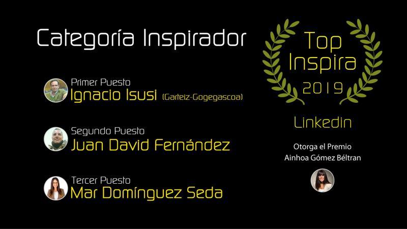 Primer premio #TOPINSPIRA en la categoría INSPIRADOR - Ignacio Isusi