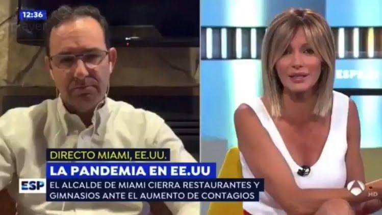 Crónica desde Miami (EEUU) sobre la pandemia en Espejo Publico de Antena 3 - Ignacio Isusi